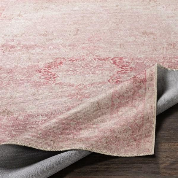 Pink, Ivory Bohemian Area Rug