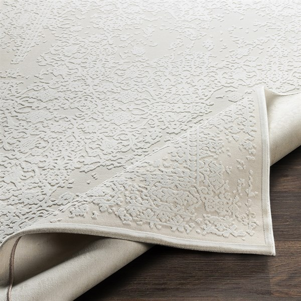 Beige, Cream Traditional / Oriental Area Rug