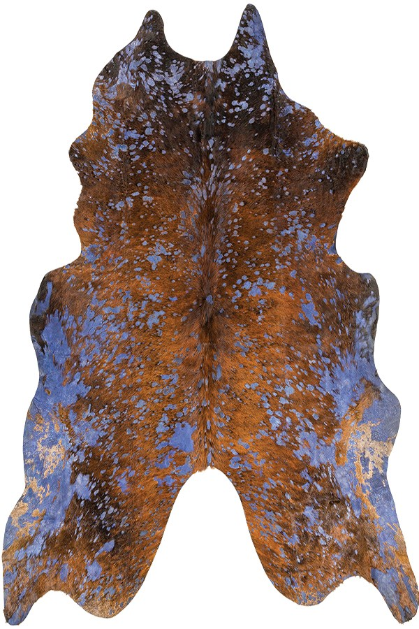 Dark Brown, Navy (BUE-1001) Animals / Animal Skins Area Rug