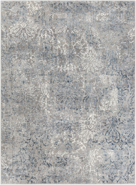 Charcoal, Denim, Light Grey Vintage / Overdyed Area Rug
