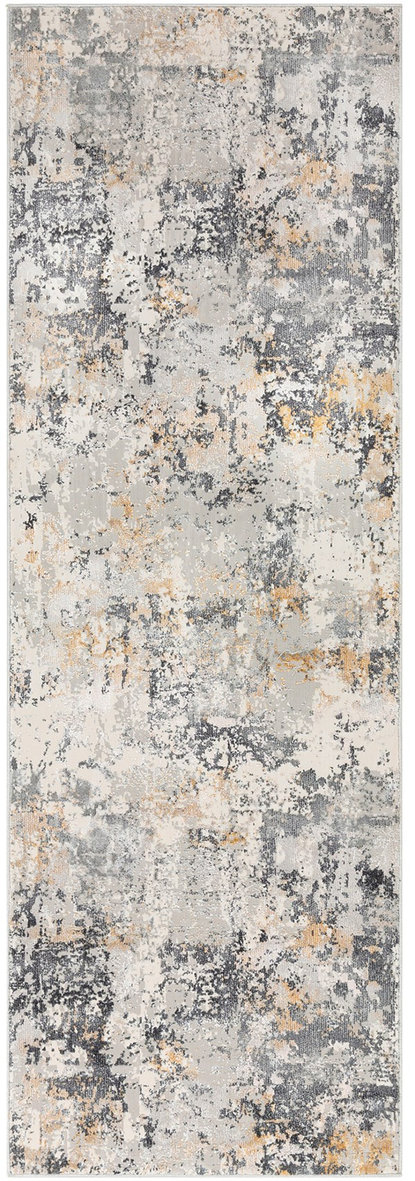 Charcoal, Grey, Mustard Abstract Area Rug
