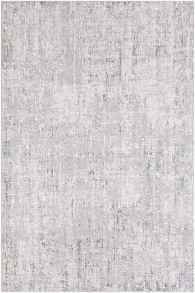 Light Grey, Grey, White Abstract Area Rug