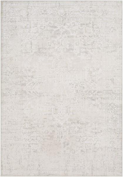 Medium Grey, White Vintage / Overdyed Area Rug
