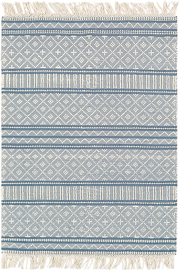 Denim, White Rustic / Farmhouse Area Rug