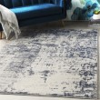 Product Image of Navy, Charcoal, Grey Abstract Area Rug