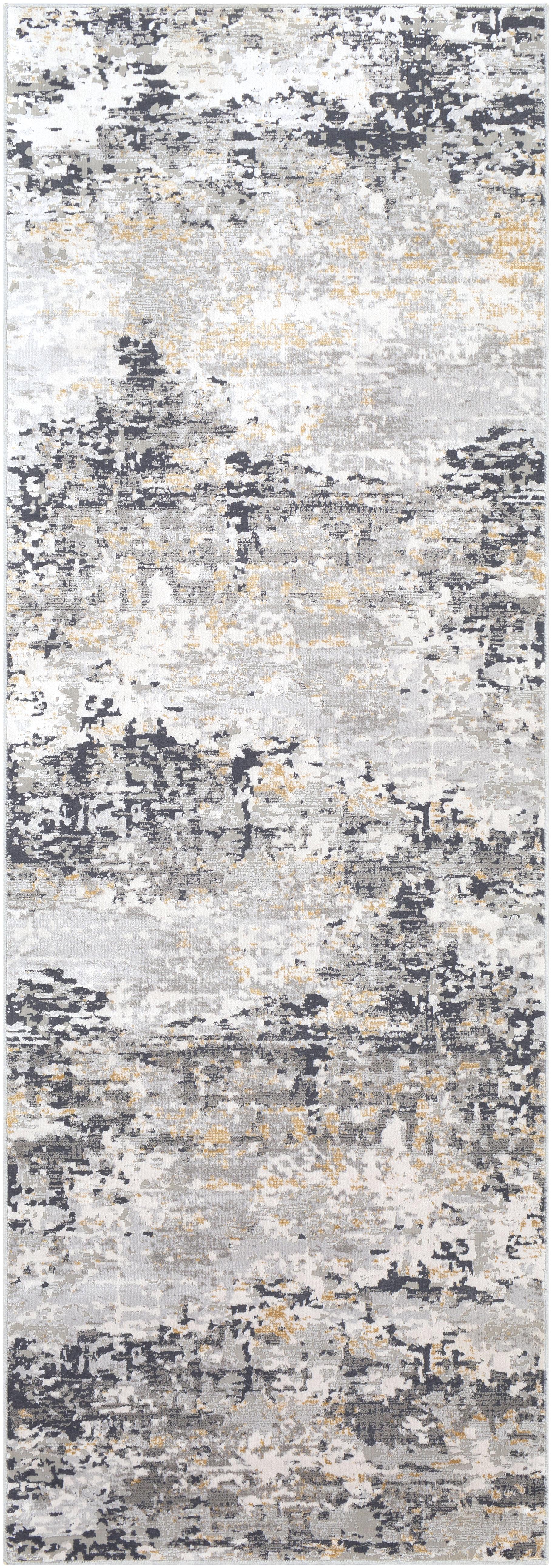 Light Grey, Tan, Charcoal Abstract Area Rug