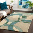 Product Image of Teal, Aqua, Beige Contemporary / Modern Area Rug