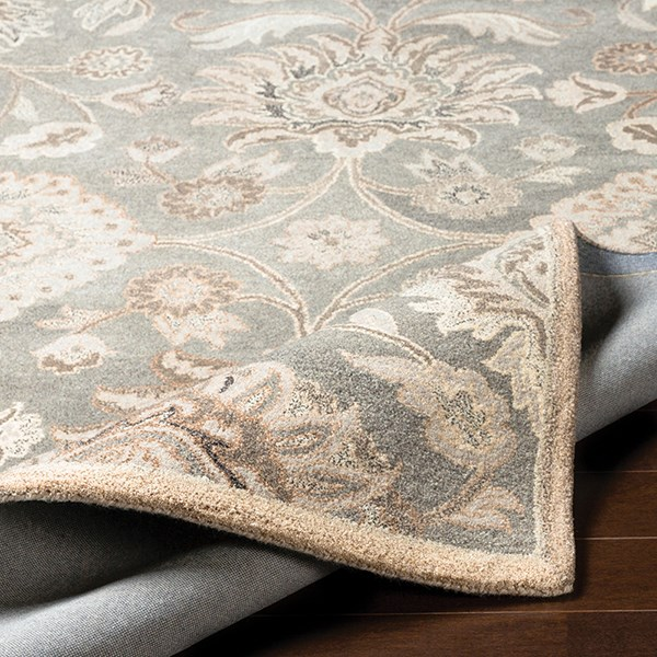 Taupe, Cream, Grey Traditional / Oriental Area Rug