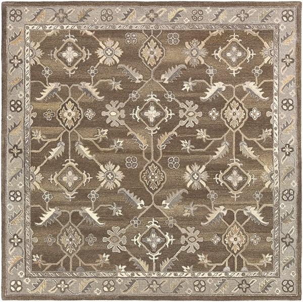 Dark Brown, Black, Charcoal Traditional / Oriental Area Rug