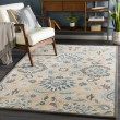Product Image of Teal, Light Grey, Charcoal (JUS-1212) Traditional / Oriental Area Rug