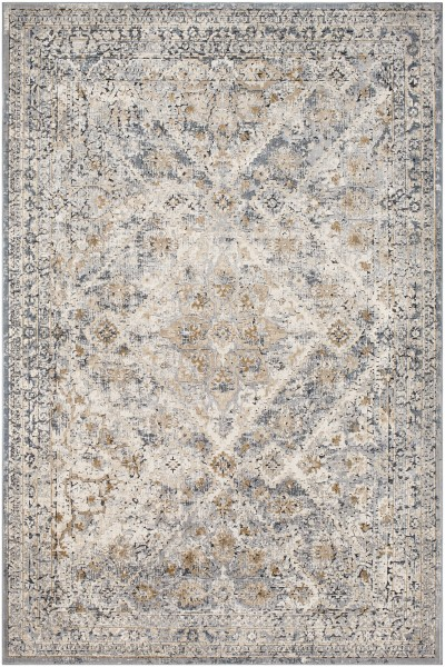 Grey, Camel, Charcoal Vintage / Overdyed Area Rug