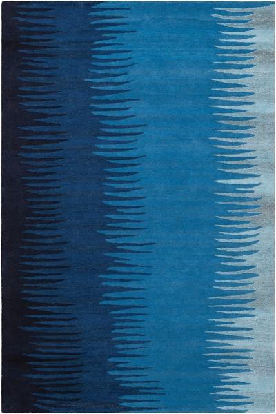 Navy, Sky Blue, Light Grey Contemporary / Modern Area Rug