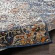 Product Image of Blue, Orange, Cream Traditional / Oriental Area Rug