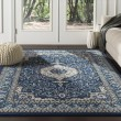 Product Image of Navy, Brown, Ivory Transitional Area Rug