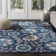 Product Image of Blue, Brown, Ivory Floral / Botanical Area Rug