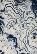 Product Image of Blue, Ivory, Grey Contemporary / Modern Area Rug