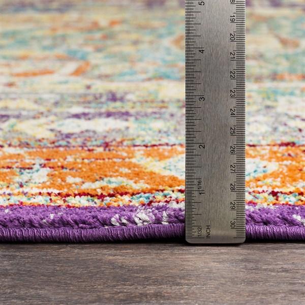 Orange, Blue, Purple Bohemian Area Rug