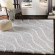 Product Image of Light Grey, White Shag Area Rug