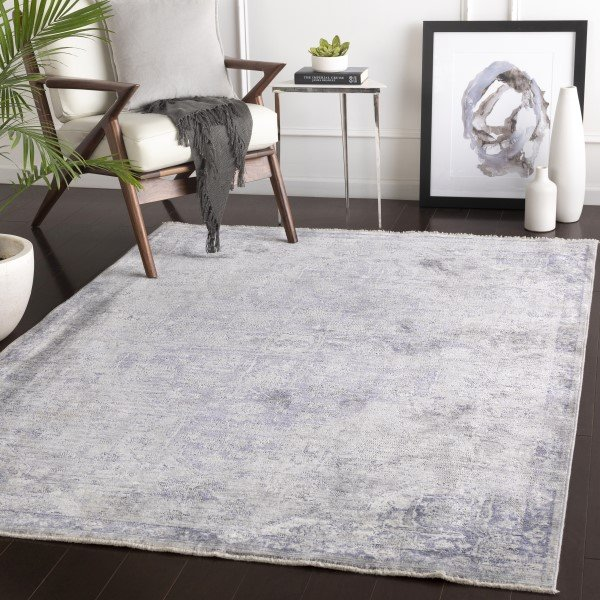 Blue, Grey Vintage / Overdyed Area Rug