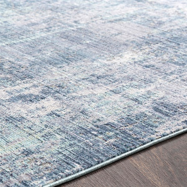 Blue, Grey, White Vintage / Overdyed Area Rug