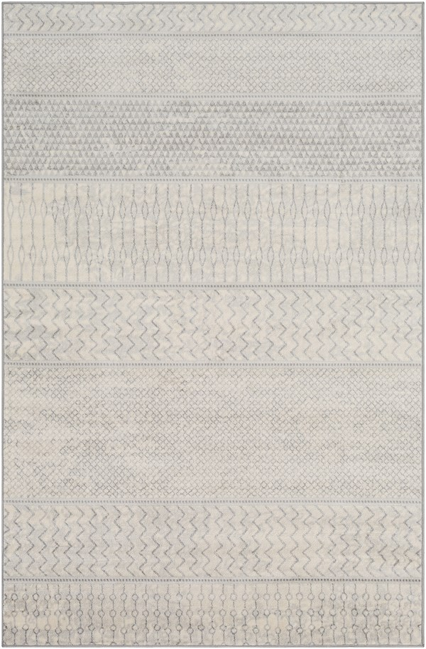 Silver, Grey, Cream Transitional Area Rug