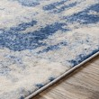 Product Image of Blue, Grey, Cream Abstract Area Rug