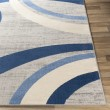 Product Image of Navy Contemporary / Modern Area Rug