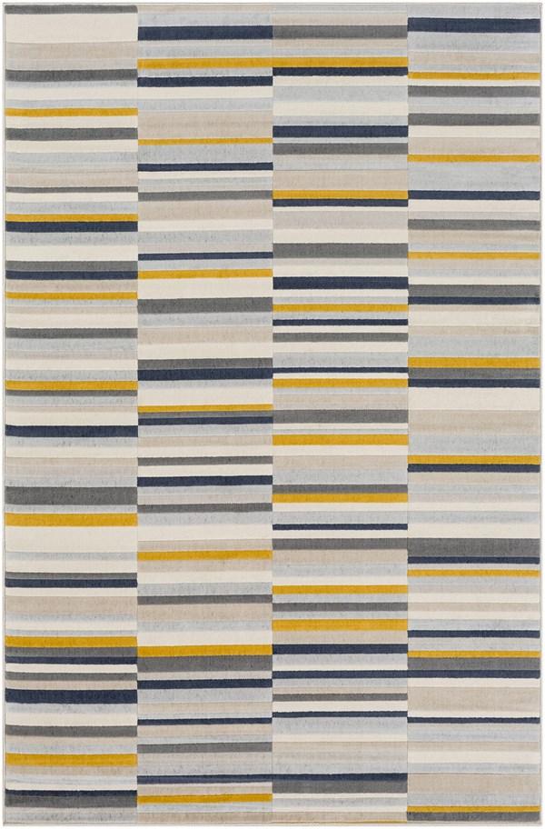 Yellow Contemporary / Modern Area Rug