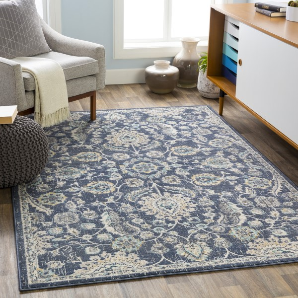 Navy (CIT-2357) Traditional / Oriental Area Rug