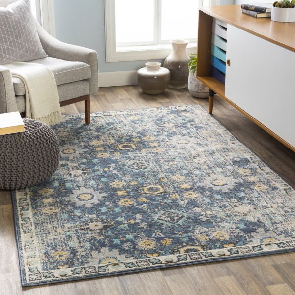 Navy (CIT-2371) Vintage / Overdyed Area Rug