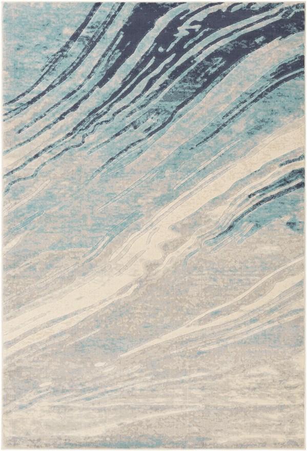 Aqua (CTA-2389) Contemporary / Modern Area Rug