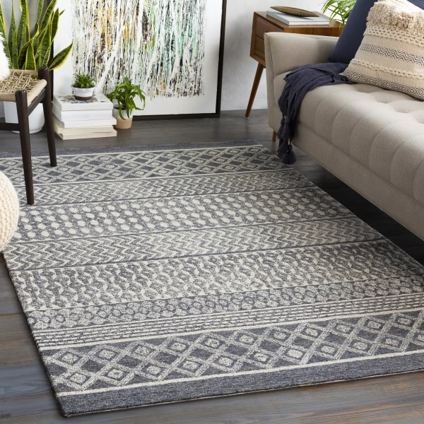 Charcoal (MRO-2305) Transitional Area Rug