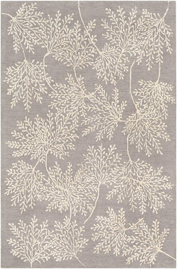 Grey (STA-2302) Floral / Botanical Area Rug