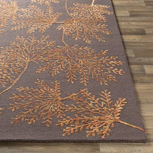 Orange (STA-2304) Floral / Botanical Area Rug