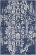 Product Image of Contemporary / Modern Dark Blue, Denim, Ivory (GND-2311) Area Rug