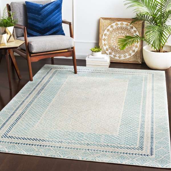 Aqua (HAP-1098) Transitional Area Rug