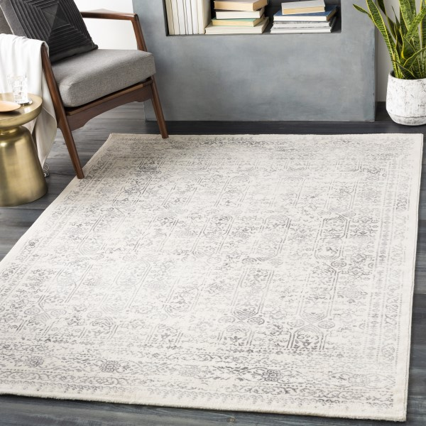 Beige, Grey Vintage / Overdyed Area Rug