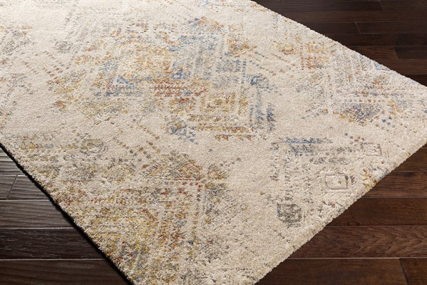 Beige, Champagne, Mustard Transitional Area Rug