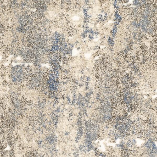 Khaki, Denim, Cream Abstract Area Rug