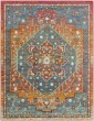 Product Image of Bohemian Orange, Blue, Red (HER-2301) Area Rug
