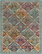 Product Image of Transitional Orange, Red, Aqua (HER-2304) Area Rug