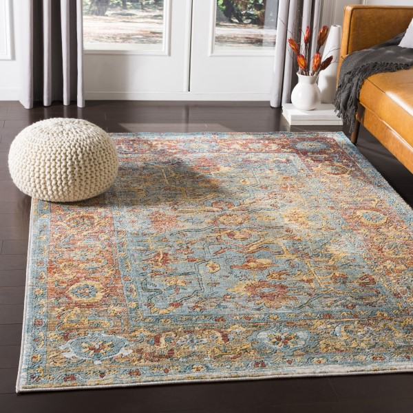 Yellow, Blue, Red (HER-2316) Bohemian Area Rug