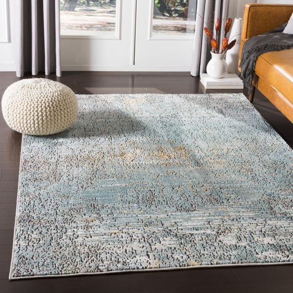 Aqua (HER-2320) Contemporary / Modern Area Rug