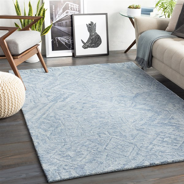 Blue (NCS-2300) Southwestern / Lodge Area Rug