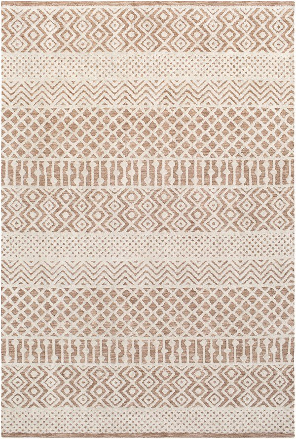 Tan, Ivory (TLE-1000) Moroccan Area Rug