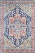 Product Image of Bohemian Navy, Peach, Green (IRS-2312) Area Rug