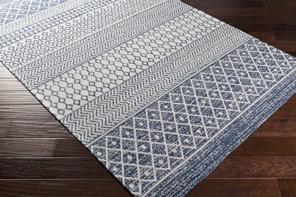 Blue, Taupe (LCS-2307) Moroccan Area Rug