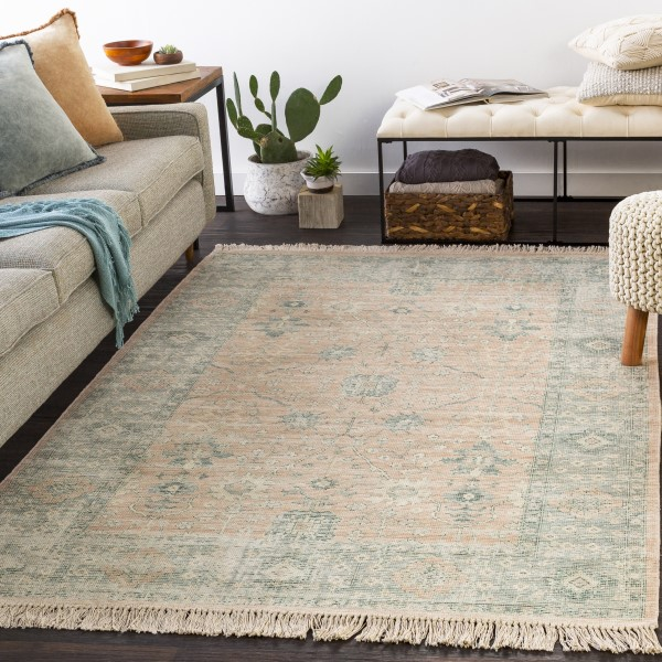 Camel, Cream, Sage (ZAI-2310) Transitional Area Rug