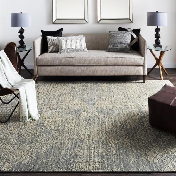 Charcoal, Black, Khaki (LUC-2300) Contemporary / Modern Area Rug