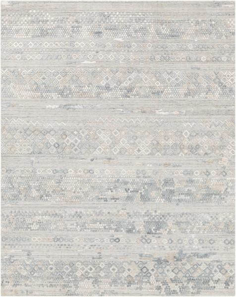 Pale Blue, Grey, Sage (MKL-2303) Vintage / Overdyed Area Rug